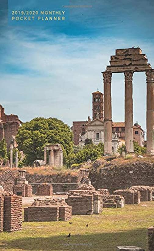 2019-2020: Monthly Pocket Planner | Ancient Roman Forum in Rome, Italy (Historical Monuments)