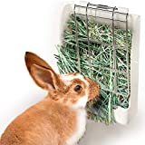 zswell Hay Feeder Rack - Hay Feeder Manger Rack for Rabbit Guinea Pig Chinchilla and Other Small Animals (White)