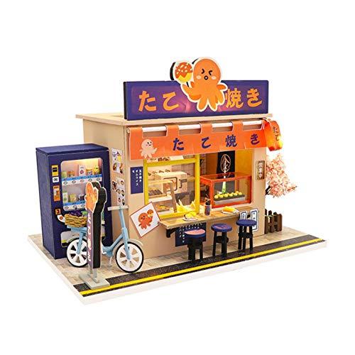 Kit de casa de muñecas para manualidades, de madera con kit de modelo de casa de muñecas, ideal para regalo de Navidad, cumpleaños, día de San Valentín