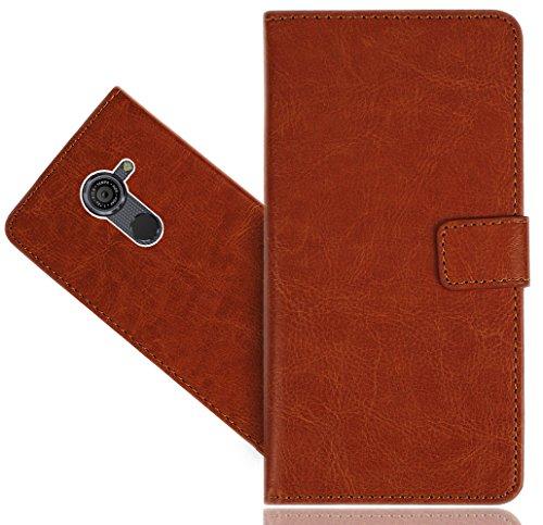 FoneExpert® Vodafone Smart Platinum 7 Handy Tasche, Wallet Case Flip Cover Hüllen Etui Hülle Premium Ledertasche Lederhülle Schutzhülle Für Vodafone Smart Platinum 7