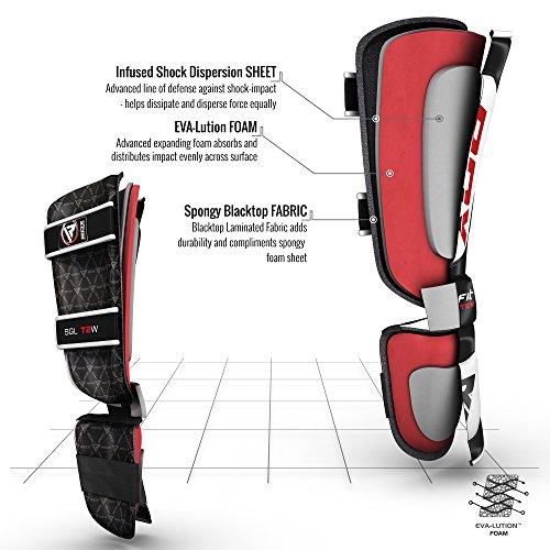RDX Leder Boxen Schienbeinschutz Kampfsport Schienbein Abbildung 2