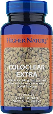 Higher Nature Coloclear Extra with Added Fibre Capsules Pack of 90 by Higher Nature