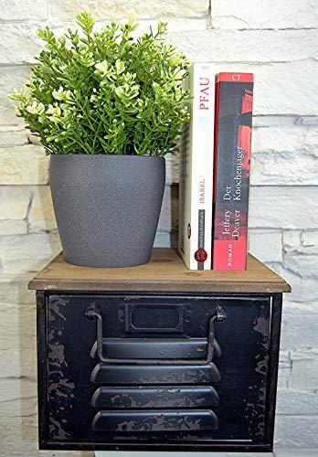 Livitat® Regal mit Schublade Schweberegal Wandboard Hängeregal Metall Vintage Industrie Loft Design LV5060 (Schwarz klein)