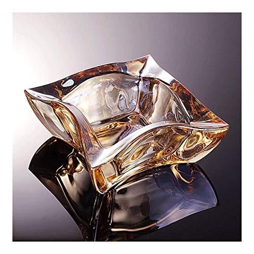 Cenicero Portatil,Cenicero de regalo de cristal, cenicero de cigarrillos, decoración de mesa de escritorio para uso en interiores en la oficina, accesorios de 4.5 x 2.5 pulgadas, regalos (color: