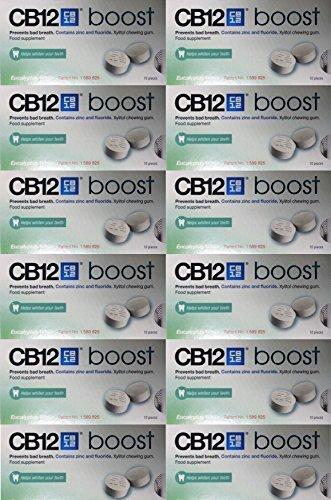CB12 Boost Eucalytus weiß Kaugummi Packung von 12