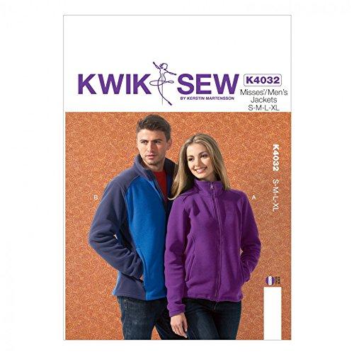 KWIK SEW Damen & Herren Unisex-Schnittmuster 4032Fleece Jacken