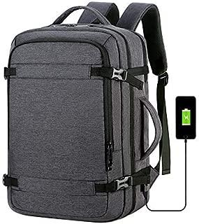 FengCase Men and Women Travel Laptop Backpack, Large College Backpack (Black) (Black)