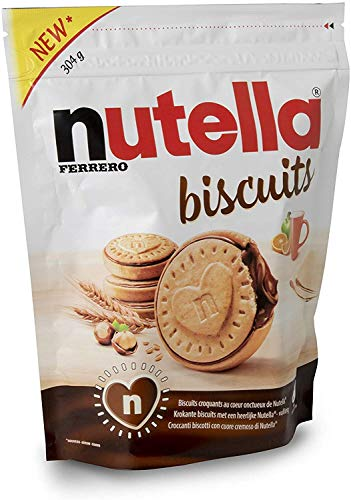 nutella biscuits 3er Pack (3x304g Beutel) plus usy Block