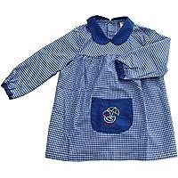 Furein Baby Infantil de Cuadros, Conjunto de Uniforme colegial para niños y niñas. (5, Azul)
