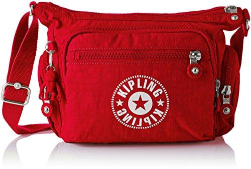 Kipling - Gabbie S, Bolsos bandolera Mujer, Rojo (Lively Red), 16.5x29x22 cm (B x H T)