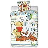 Unbekannt Faro - Juego de cama (algodón, 100 x 135 cm y 40 x 60 cm), diseño de Winnie The Pooh
