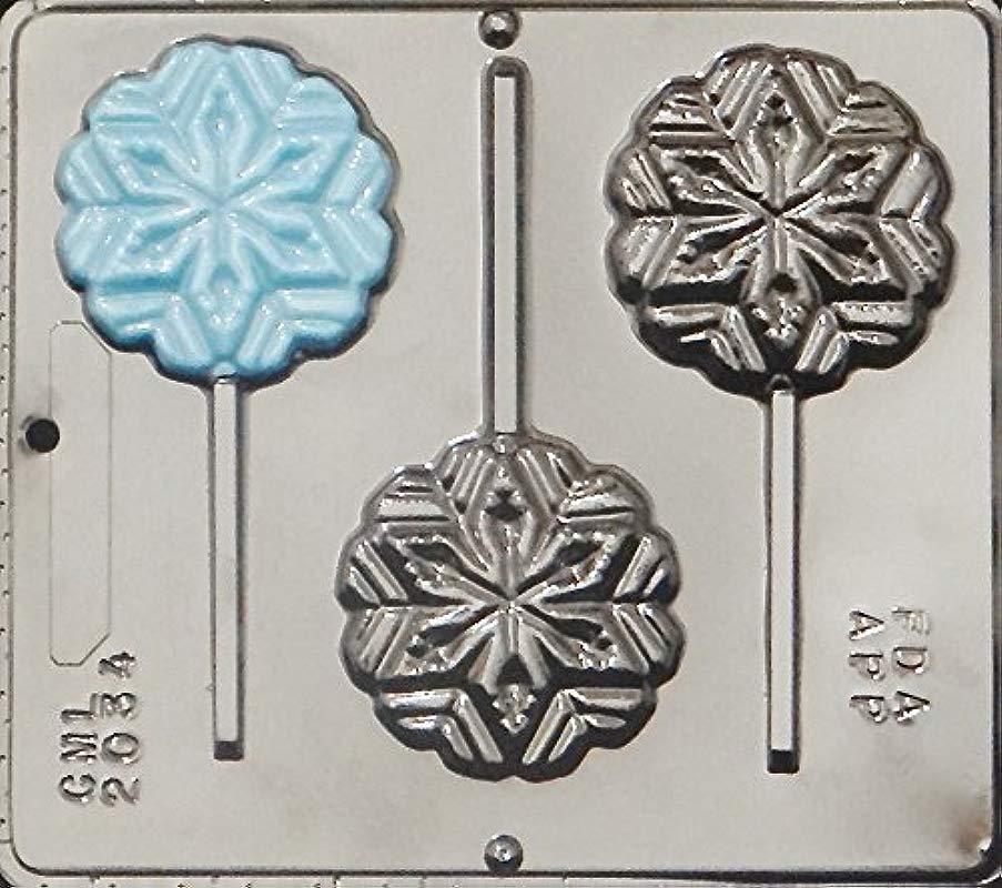 Snowflake Lollipop Lollipops Chocolate Candy Mold Christmas 2034