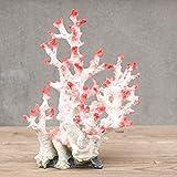 UOEIDOSB Rosa de Resina en Color de mar Artificial Ornamento Coral Marino en el Tanque de Pescados del Acuario de decoración del hogar Decoración