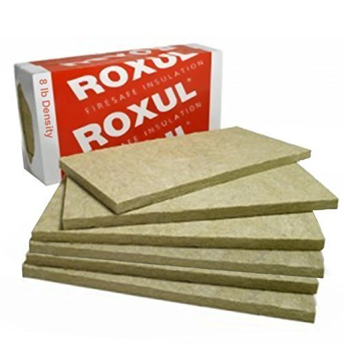 Rockwool Acoustic Mineral Wool Insulation 80-8lb 48'x24'x2' 6pcs