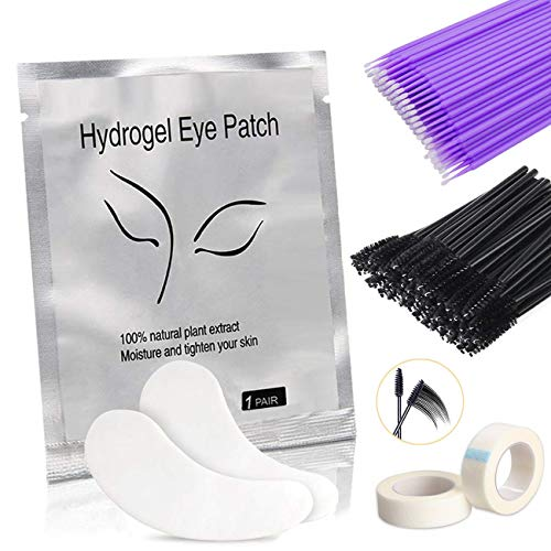 Eye Gel Patches, Aikvigss 50 Paia Lint Free Patch Occhi Extension Ciglia Patch Extension Ciglia Gel Cerotto Eye Gel Patches Senza Pelucchi Cerotti Gel per Estensioni Ciglia Adesivi Eye Pads