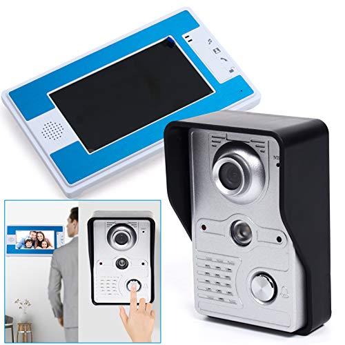 Türklingel mit Kamera 7' Familien Sprechanlage Video Türsprechanlage Klingel Intercom System, Nachtsichtfunktion,...