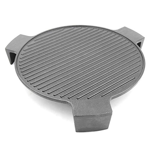"""Hongso Cast Iron Plate Setter for Large Big Green Egg Grill and Other 18"""" Diameter Cooking Grills, Kamado Grill, 18"""" Smoking Stone, Pizza Stone, Heat Deflector with 3 Legs, CBCR-18 (For Large BGE)"""