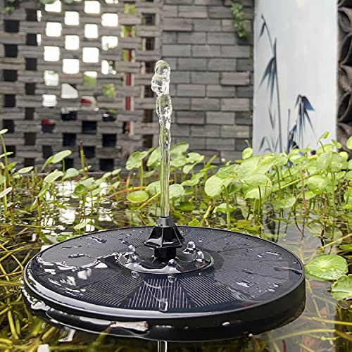 Solar Fountain SALMOPH Upgrade 3W Solar Water Fountain Pump with LED Lights and 7 Nozzles Holder, Ultra Quiet Solar Fountain Pump for Bird Bath, Pond, Garden, Pool, Fish Tank, Outdoor
