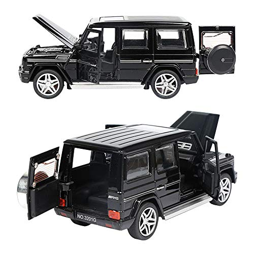 "Diecast Pull Back Cars, 6.1"" Alloy Toddler Cars , Toy Car Model 1:32 with Sound and Light for G65 SUV AMG for Kids Gift(Black)"
