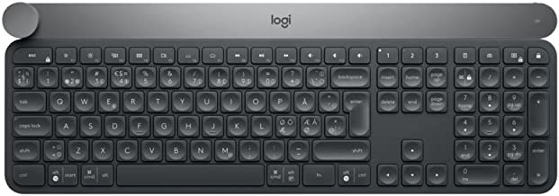 Logitech Craft Teclado Inalámbrico, 2,4 GHz/Bluetooth, Disc