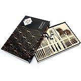 Elegant Life Besteck, 24-teilige Besteck Set, aus Edelstahl Hochwertige Spiegelpolierte Besteck-Sets, Mehrzweckgebrauch für Haus, Küche, Restaurant Besteck Sets mit Geschenkbox-Service für 6 Personen - 9