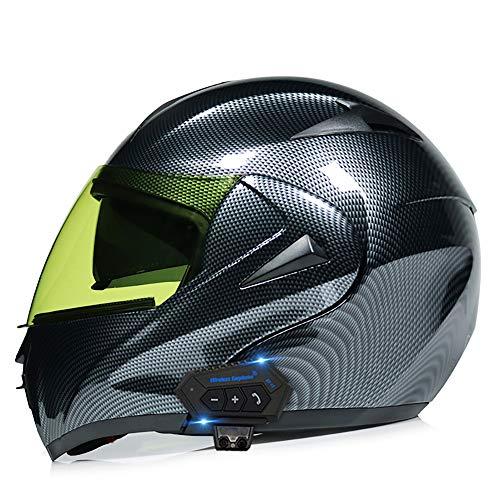 Casco Modular de Motos,Casco de Moto con Bluetooth Integrado ECE Homologado para...
