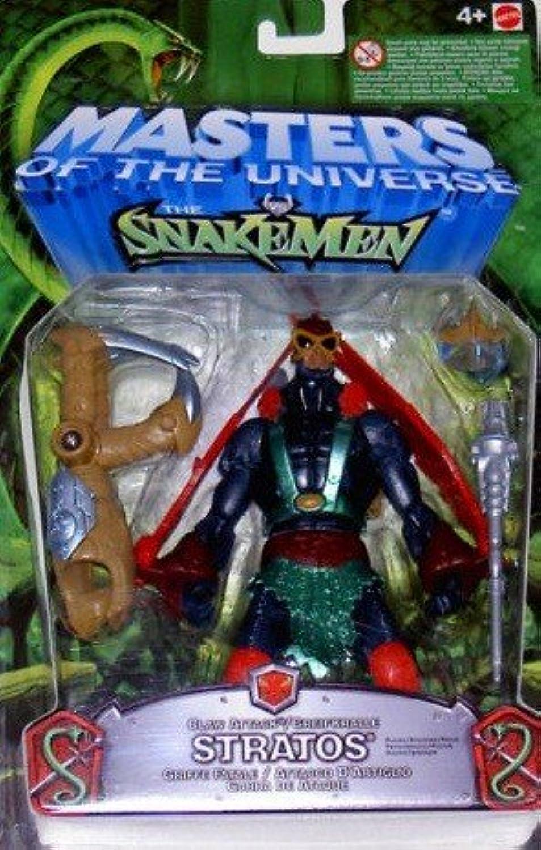 Stratos von Masters of the Universe greeneidiger Eternias Actionfigur mit individueller KampfAction, Waffen und beweglichen Teilen.