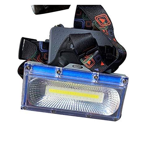 DONGMAISM Torch de Acampada de Faro LED 3 Modos de Cabeza Linterna Recargable Frontal Feurlamp (Emitting Color : Blue)