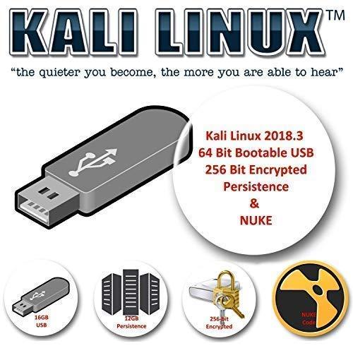Kali Linux 2018.4 sur USB 16 Go avec stockage de persistance crypté et code NUKE