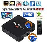 ZAMPEQ MXQ Pro 4K Android TV Box 1GB RAM/8GB ROM 64 Bit Quad