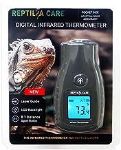 Reptilia Care Digital Infrared Thermometer for Reptiles, Terrarium Thermometer, Digital Reptile Thermometer Temperature Gun, Reptile Equipment for Reptile Habitat, Black