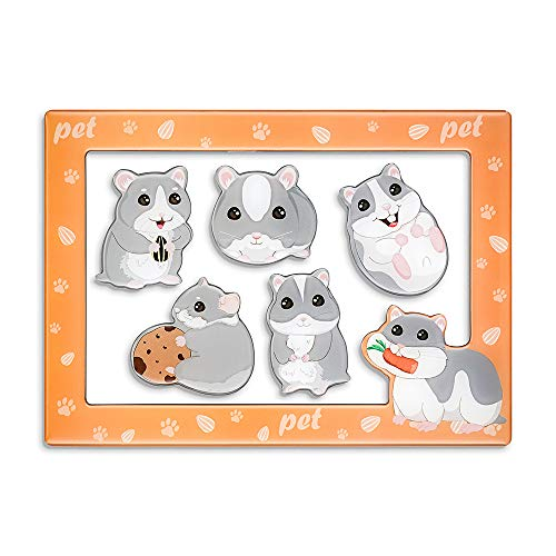 Morcart Hamster Magnets and 4x6 Inches Magnetic Photo Frame
