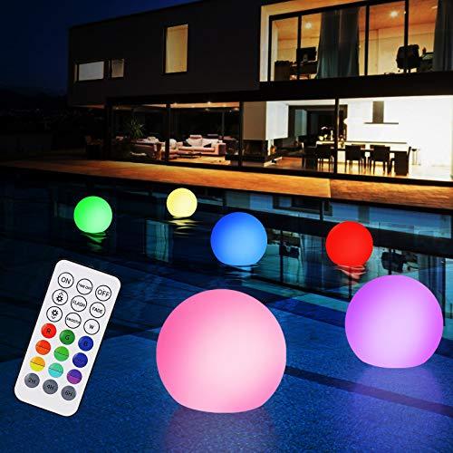 Poollicht LED, Zorara 6 Stück Poolbeleuchtung Licht mit RF Fernbedienung, 16 RGB Farbwechsel Unterwasser Licht IP68 Wasserdicht, LED Pool Lichter für Schwimmbad, Weihnachten, Halloween Dekoration
