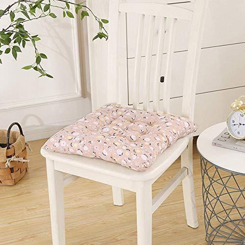 XLHZKAL Chair cushion,Square Floral Chair Cushion Pad Seat Cushion Chair Pad Decorative Sitting Mat,Caffee,Dobby,40x40cm