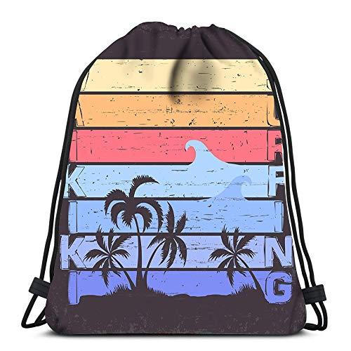 Randell Gym Drawstring Backpack Sport Bag Extreme Sport Freestyle Label Skateboarding Emblem Surfing Snowboarding Lightweight Shoulder Bags Travel College Rucksack for Women Men