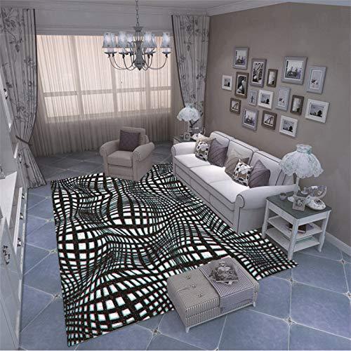 Alfombra Impresa En 3D Geométrica Simple De Estilo Europeo Alfombra De Piso Acolchada Antideslizante De Moda Dormitorio Sala De Estar Sofá Mesa De Café Alfombra De Fiesta De Hotel