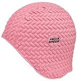 Aqua Speed Gorra de natación | Gorra de baño Deportes | Entrenamiento | natación | Pelo Largo | látex | Bombastic Tic-TAC | Rosa