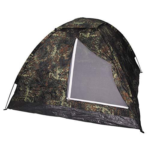 MFH3 Personen Zelt Monodom Campingzelt Bundeswehr BW 210x210x130cm Trekking (Flecktarn)