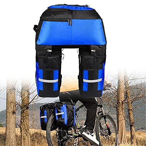 Tuimiyisou 70L traseras Bolso de la Bicicleta a Prueba de Agua de la Bici de Maletas Bolsas 3 en 1 Bolsa de sillín de la Bicicleta con la Cubierta Impermeable para Viajes Senderismo