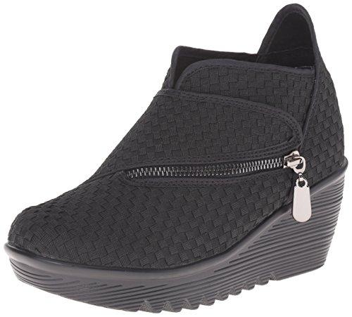Bernie Mev Women's Zig Zag Ankle Bootie, Black, 40 EU/40 EU = 9.5-10 M US