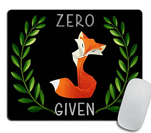 Zero Fox Given Mousepad, Chalkboard Fox Mouse Pad, Chalk Zero Fox Given Mousepad, Funny Mousepad, Gift for Guy, Funny Gifts Mouse Pad
