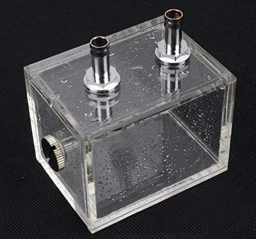 ZJchao 200ml PC Wassertank, Wasserkühltank, wassergekühlter Tank Acryl Wasser Tank Kühler Wasserkühlung Kühler PC CPU Wasserblock Wassertank Kühlsystem PC Flüssigkeitskühler Reservoir