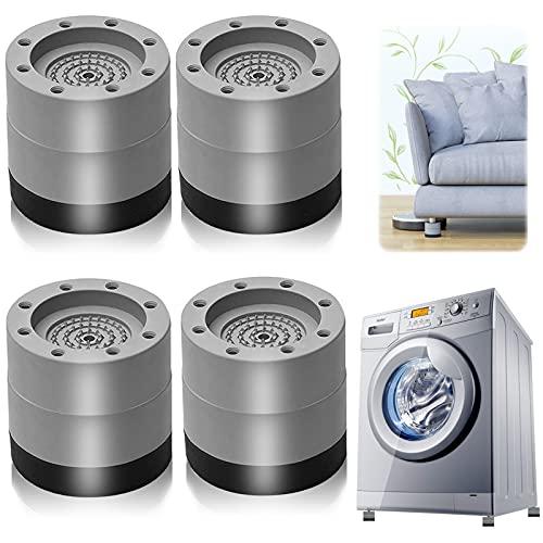 Piedini per lavatrice, 4 Pezzi Tappetino Antivibrazione per Lavatrice Piedini per lavatrice Antivibrazione Cuscinetti in gomma, per lavatrice Asciugatrice Frigoriferi (grigio 6cm)