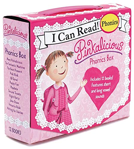 Pinkalicious Phonics Box: Includes 12 Mini-Books Featuring Short and Long Vowel Sounds