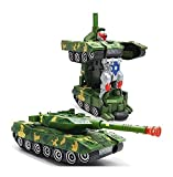 Musical Army Combat Deformation Robot Toy Tank for kids with automatic convert a robot to the battle tank. Its a 2 in 1 toyIts a 2 in 1 automatic transforming robot action figure toy to battle tank. | This battle toy tank will provide hours of entert...