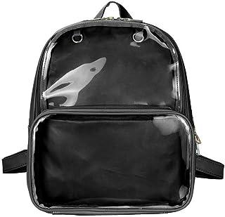 SteamedBun Ita Bag Double Window Candy PU Leather Backpack Kawaii Pins Bag
