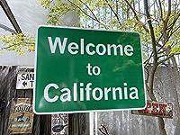 【262736】アメリカの道路標識を細部まで忠実に再現☆アメリカン・トラフィックサイン(ウェルカム・カリフォルニア)/看板/ガレージ雑貨