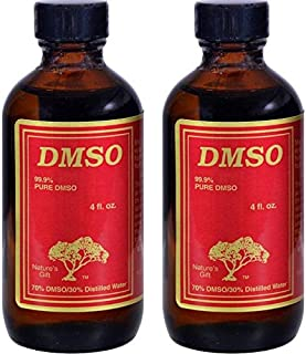 DMSO 99.9% Pure Liquid (Pack of 2), 4 Oz Each