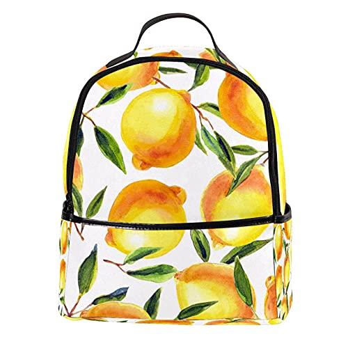 FURINKAZAN Limón fruta verano pu cuero mini mochila monedero moda viaje mochila