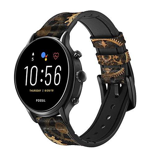 Innovedesire Clock Gear Cinturino in Pelle Smartwatch per Fossil Womens Gen 5E, Womens Gen 4, Hybrid Smartwatch HR Charter Taglia (18mm)